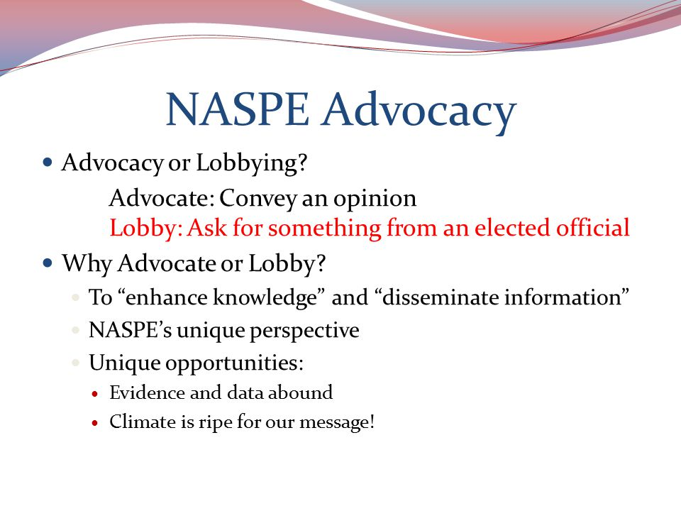 Why Advocate or Lobby.