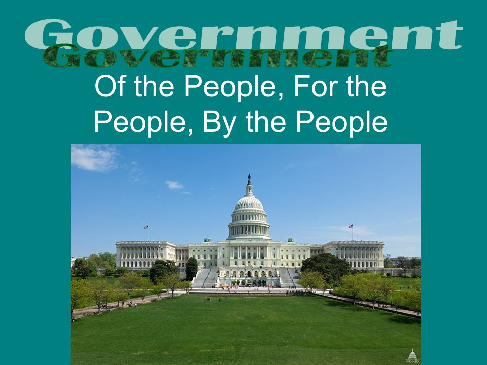 Essential Question: What do we need the government for anyway.