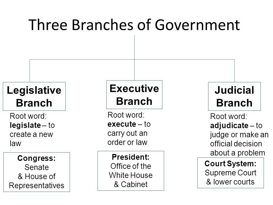 Legislative Branch Legislate – to create a new law.