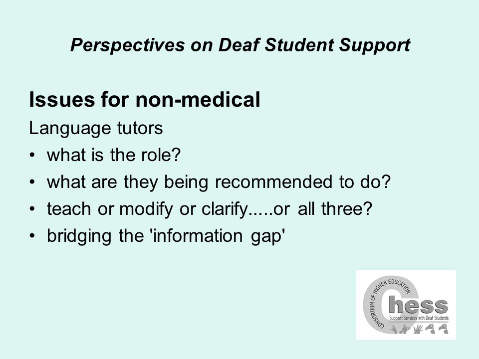 Perspectives on Deaf Student Support Issues for non-medical Rarities lipspeakers speech-to-text reporters palantype