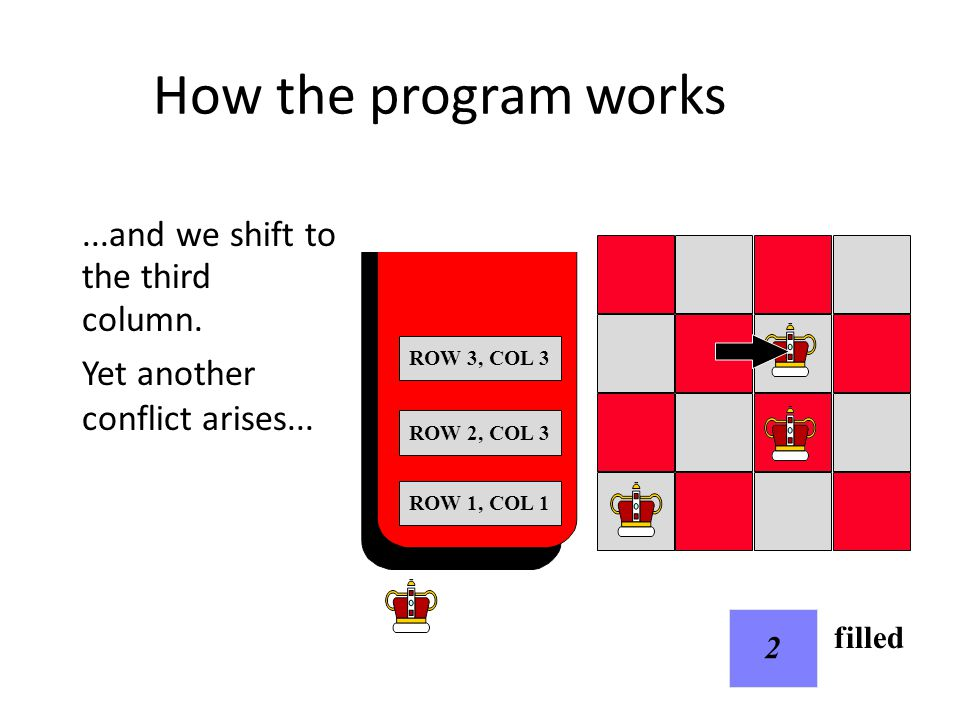 How the program works...and we shift to column 4.