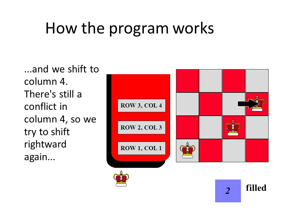 How the program works...but there s nowhere else to go.