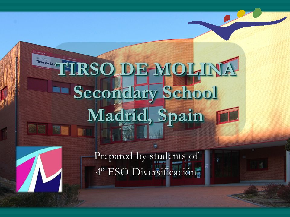 History of School Founded in 1967Founded in 1967 Bilingual since 2010Bilingual since 2010 First secondary school in Vallecas, MadridFirst secondary school in Vallecas, Madrid Largest so far in the areaLargest so far in the area One new building since 2010One new building since 2010
