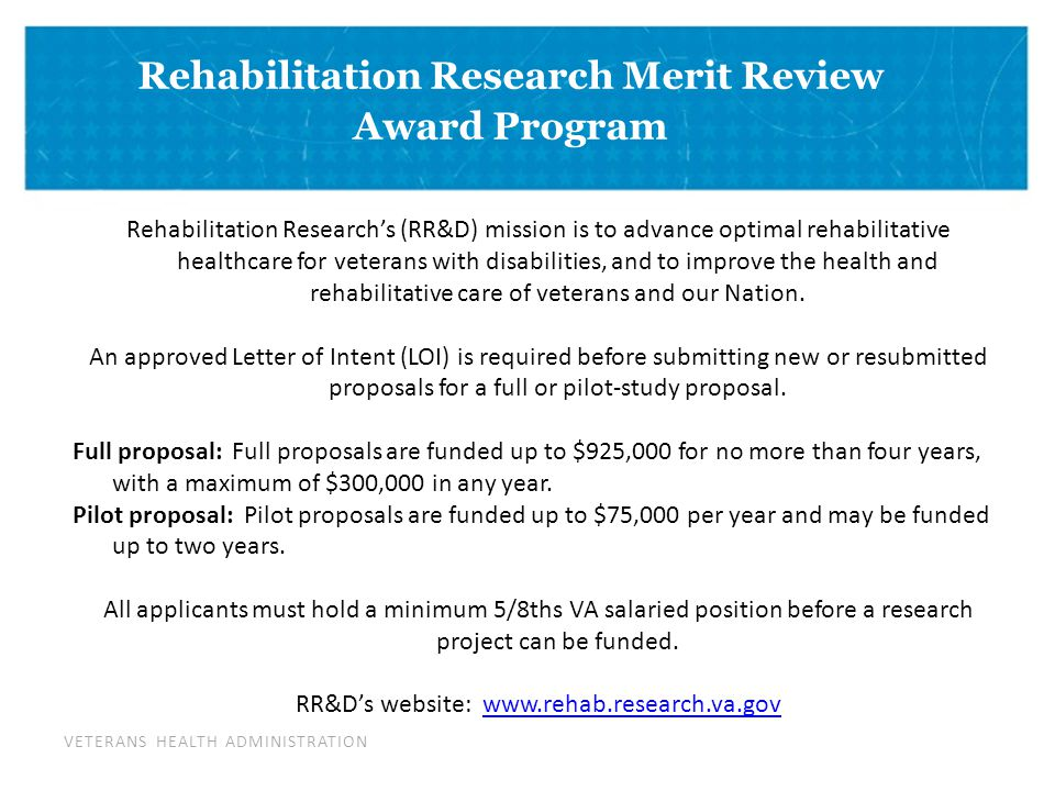 VETERANS HEALTH ADMINISTRATION DIVIDER PAGE Research Career Development Program The Career Development Program is an award series under which both clinically and non-clinically trained post-doctoral research may gain mentored research time intended to advance awardees toward independence as funded VA scientists.