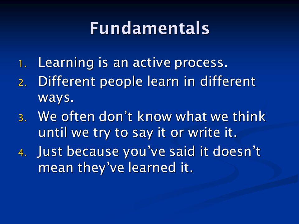 Genuine Learning Reception Test Recap Explain