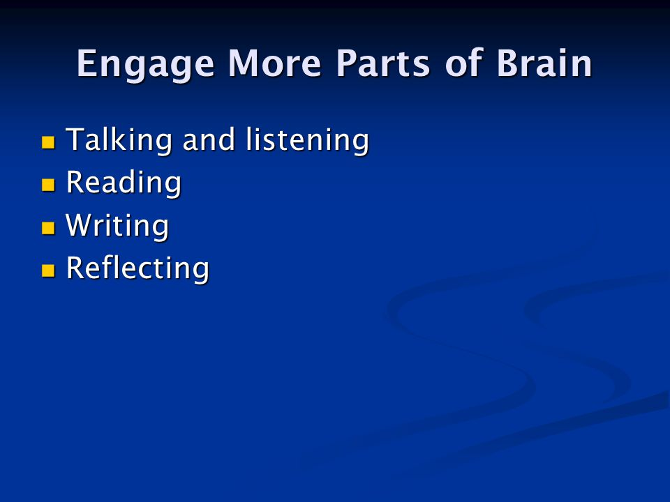 When learning is active, students do most of the work [Silberman].