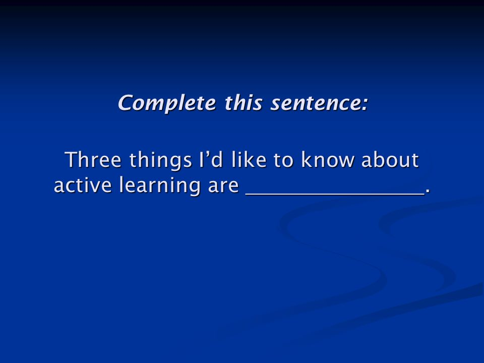 Structure of This Lecture Critiquing lecturing Critiquing lecturing Defining active learning Defining active learning Implementing active learning Implementing active learning