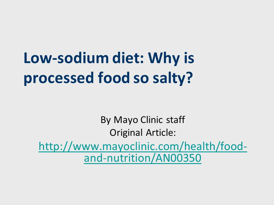 Why do processed foods contain so much sodium.Salt (sodium chloride) serves a number of purposes.