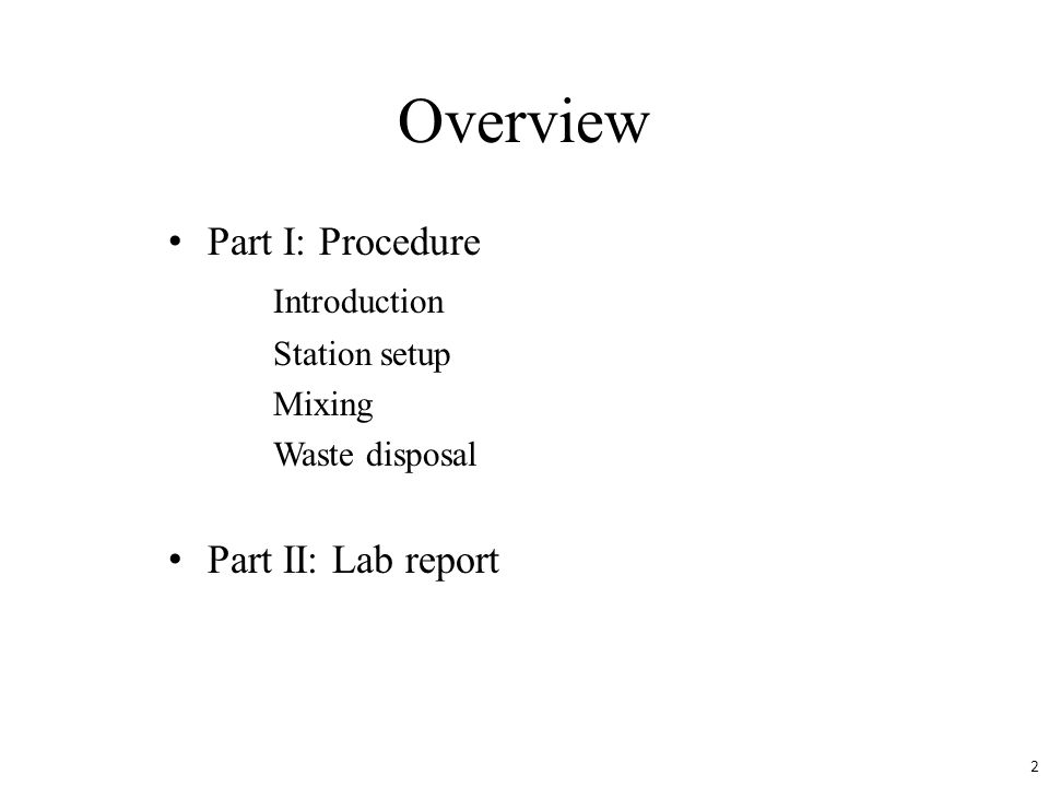 Part I.Procedure You will be mixing 14 pairs of chemicals in aqueous solutions.