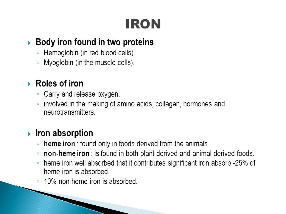  Iron deficiency anemia.