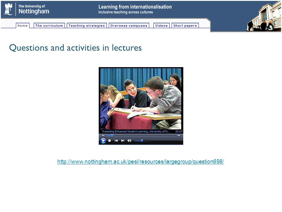 Possible collections of students (circles) into groups of three across lecture theatre rows.