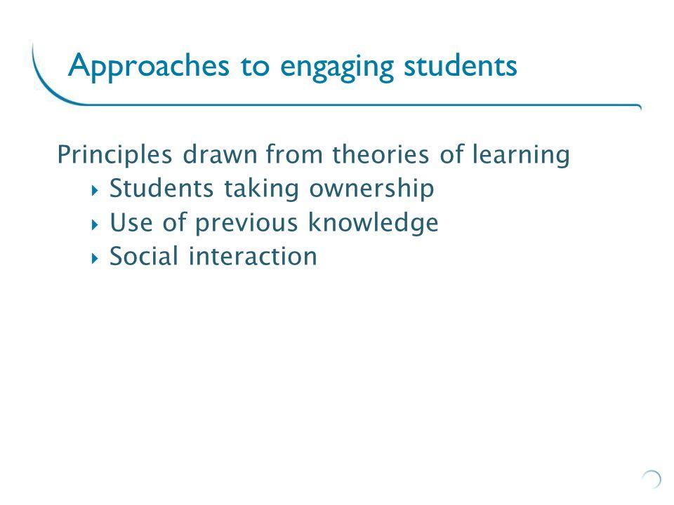 Conversations Social contact Active participation Principles for action