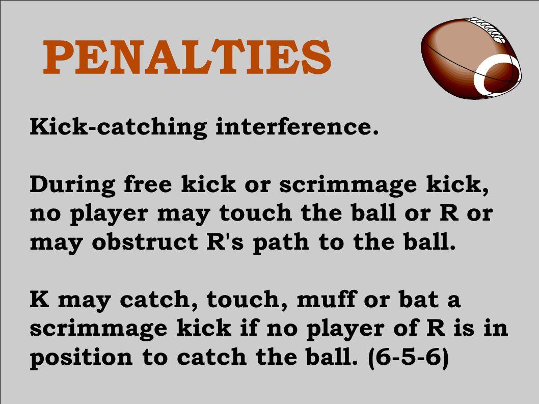 PENALTIES Kick-catching interference.