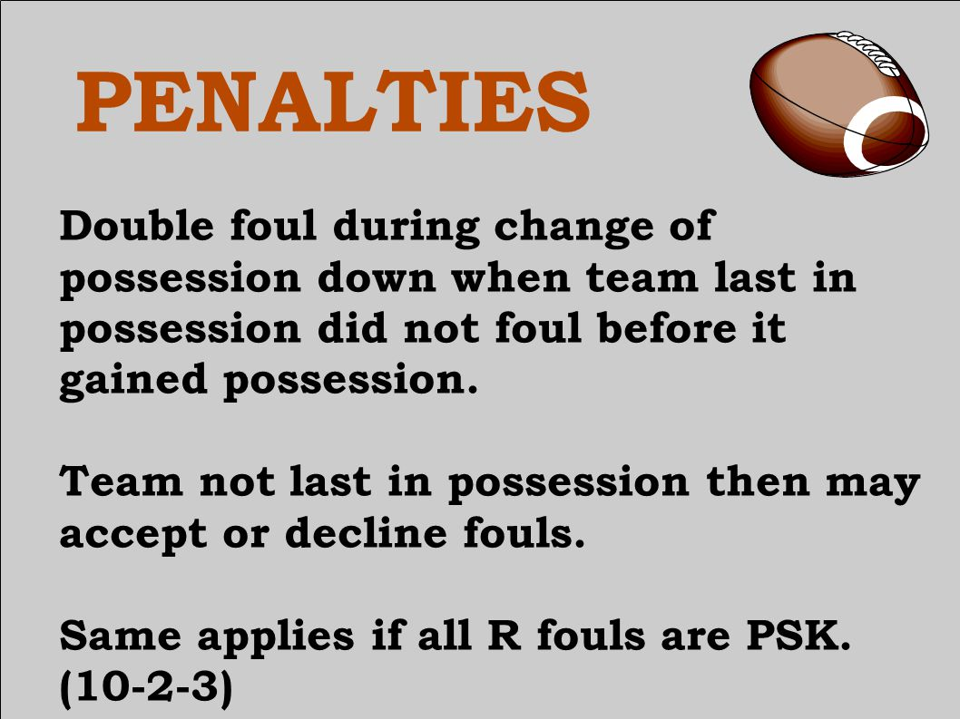 PENALTIES Fouls during or after scoring plays.