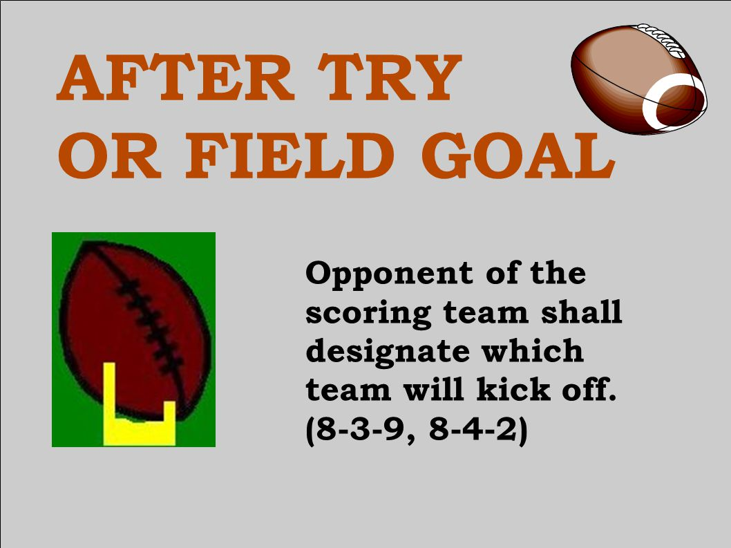 FAIR CATCH Captain may choose to free kick or snap anywhere between the hash marks on the yard line through the spot of the catch or the spot of interference when a fair catch is awarded.