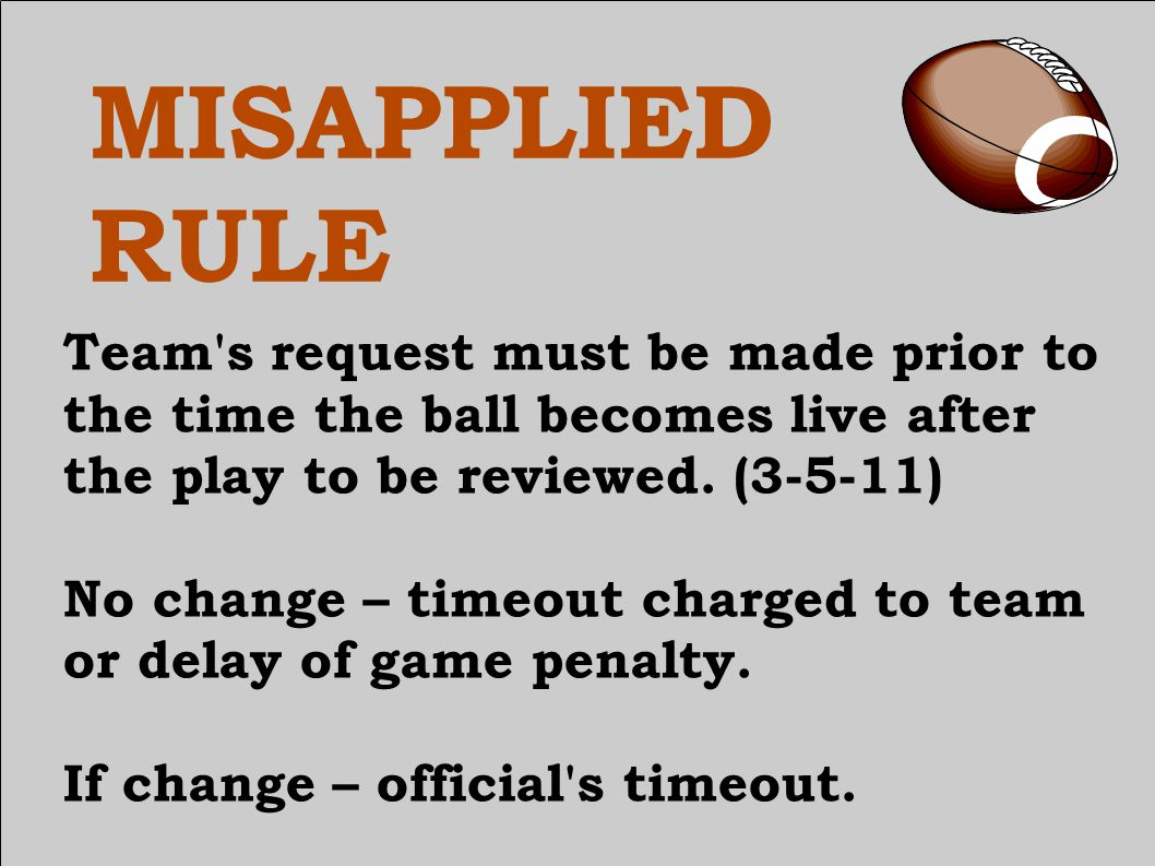 CORRECTING TIMING ERROR The referee shall have authority to correct obvious errors in timing if discovery is prior to the second live ball after the error unless the period has officially ended.