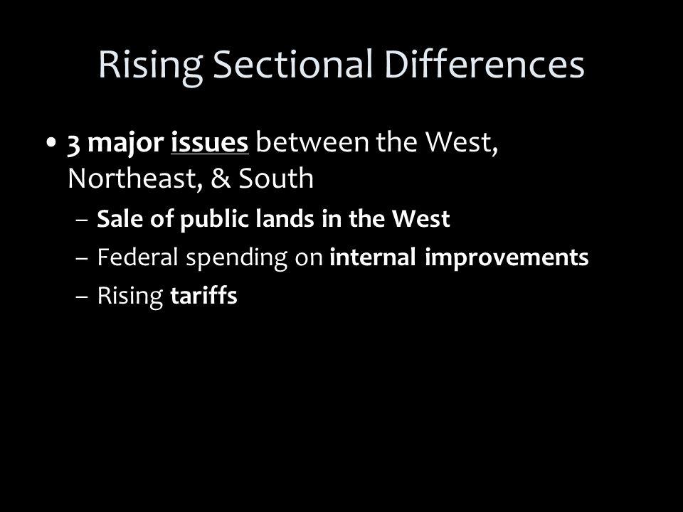 Regional Interests Westerners want federal govt.