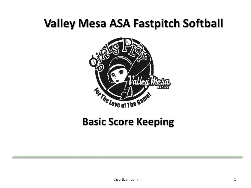 thsoftball.com2 Topics that we will cover  Scorekeeper's duties  Position designations and abbreviations  Ways of reaching base  Outs  Score Example