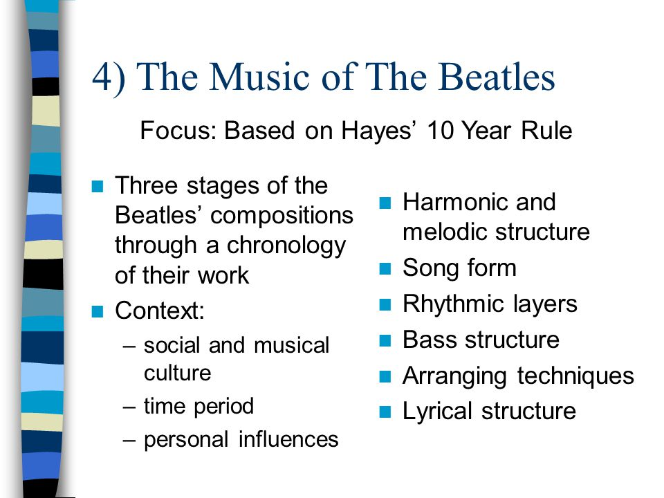 And in the End … What can you do to demonstrate your experience of The Beatles.