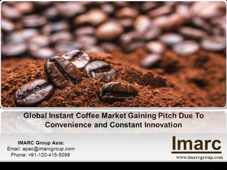 World Instant Coffee Market Report 2016 - 2021