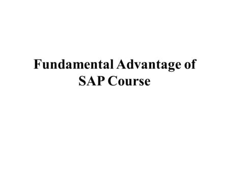 Fundamental Advantage of SAP Course. When human beings speak about SAP, they commonly suggest the software program system. SAP includes numerous parts,