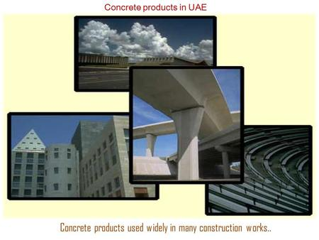 Concrete Products Manufacturers in Dubai