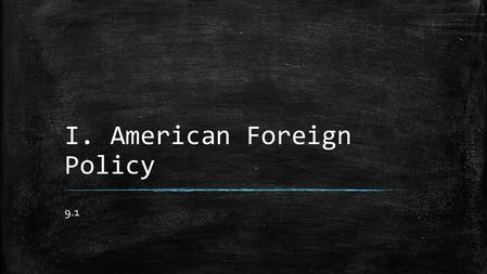 Foreign policy of the United States