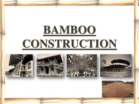 Bamboo Roofing Sheets.