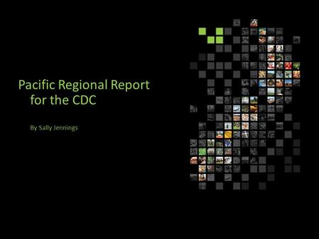 Pacific Regional Report for the CDC By Sally Jennings.