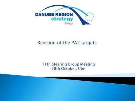 11th Steering Group Meeting 28th October, Ulm. Revision of targets – current status  Current targets and actions were agreed in  Debate on revision.