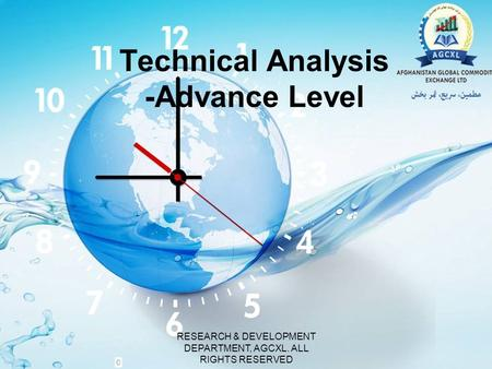 Technical Analysis -Advance Level RESEARCH & DEVELOPMENT DEPARTMENT, AGCXL. ALL RIGHTS RESERVED.