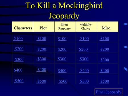 to kill a mockingbird test pdf