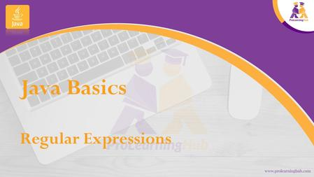 Java Basics Regular Expressions.   A regular expression (RE) is a pattern used to search through text.  It either matches the.