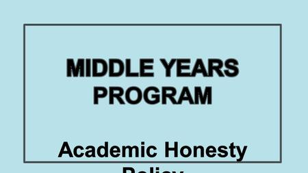IB defines academic honesty as a set of values and skills that promote personal integrity and good practice in teaching, learning and assessment. Academic.