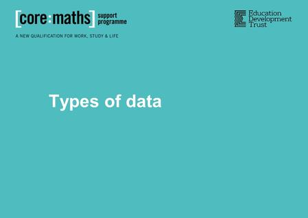 Types of data. Qualitative data is word-based, describing qualities of things. Quantitative data is numerical and records quantities. Qualitative and.