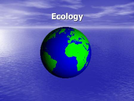 different ecological relationship among organisms and their environment