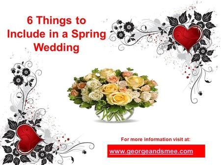 6 Things to Include in a Spring Wedding For more information visit at: