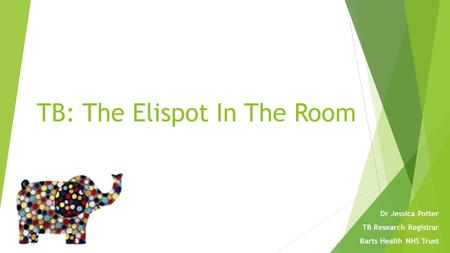 TB: The Elispot In The Room Dr Jessica Potter TB Research Registrar Barts Health NHS Trust.