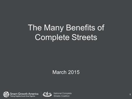 The Many Benefits of Complete Streets March