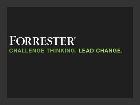WEBINAR Introducing The Forrester Wave™: Real-Time Interaction Management Rusty Warner, Principal Analyst September 22, Call in at 10:55 a.m. Eastern.