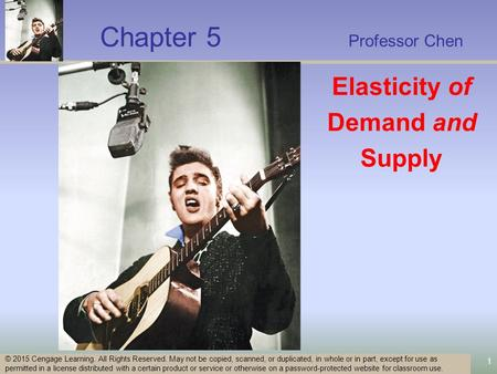 Chapter 5 Professor Chen 1 © 2015 Cengage Learning. All Rights Reserved. May not be copied, scanned, or duplicated, in whole or in part, except for use.