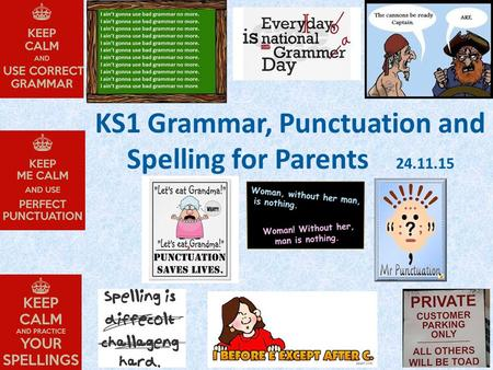 KS1 Grammar, Punctuation and Spelling for Parents