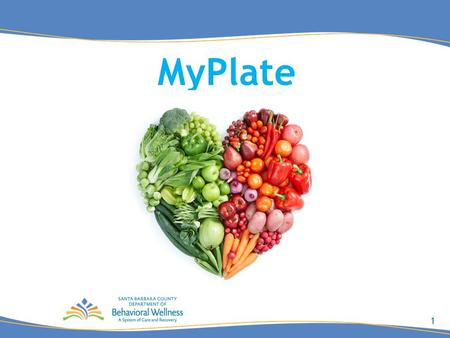 1 MyPlate. 2 Learning Objectives Create familiarity with each component of MyPlate (fruits, vegetables, grains, protein, dairy) Demonstrate how much of.