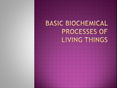  chemical processes that occur in living things.  Some examples of biochemical processes are:  DIGESTION (Hydrolysis)  SYNTHESIS of hormones, antibodies,