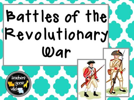 Battles of the Revolutionary War. Battle of Lexington & Concord 1775 This was the first battle of the Revolutionary War Paul Revere warned the colonists.