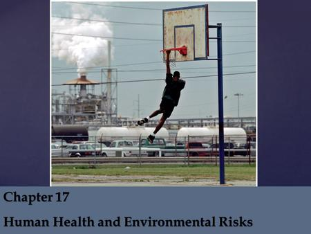 Chapter 17 Human Health and Environmental Risks.  Key Ideas  Three major categories of human health risk: – physical – biological – chemical  Historical.