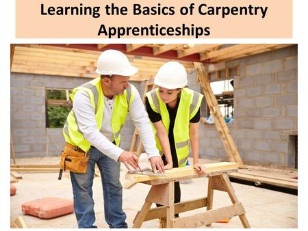 Learning the Basics of Carpentry Apprenticeships.