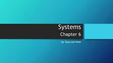 Systems Chapter 6 By: Ryan and Wobi. Allergic Reactions Occurs when the body's immune system reacts to a harmless allergen (pollen, food, or animal dander)
