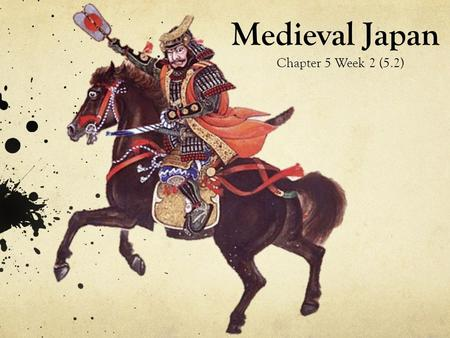Medieval Japan Chapter 5 Week 2 (5.2). What is the lord-vassal system? More money, land, and power. Less money, land, and power. EMPEROR SHOGUN: the military.