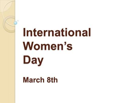 International Women's Day March 8th. The students of 1CAP ATMFC and APR introduce you to some famous women.